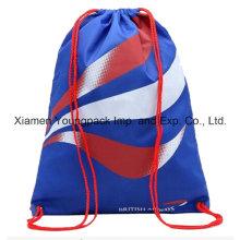 Azul personalizado impresso promocional impermeável viagem nylon cadeia mochila
