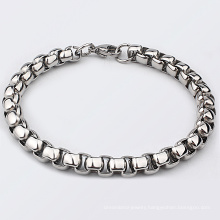 Men's Jewelry Stainless Steel 6MM Thick Rolo Round Box Link Chain Bracelet