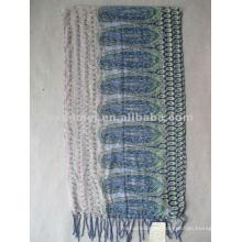 Fournisseur d'écharpe à rayures en polyester à grille