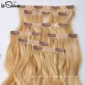 Clip inconsútil de la venta caliente de la nueva moda 2016 en extensiones del pelo