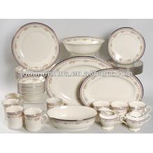 Venta caliente de la forma redonda estilo ruso real multa hueso China porcelana utensilios de cocina