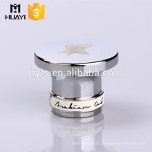 round metal perfume cap with screen printing