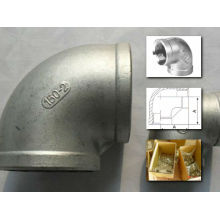 Coude fileté en acier inoxydable 304/316