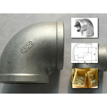 304/316 stainless steel threaded elbow