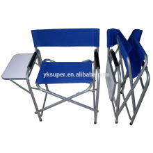 2015 высококачественная наружная мебель Алюминиевая складная кресло директора с боковым столом