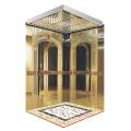 Classic Golden Mirror Gravure Cabine d'ascenseur pour passagers