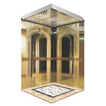 Klassische goldene Spiegel Radierung Passagier Aufzug Kabine