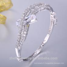 bracelet hip hop bijoux argent avec plaqué rhodium ou plaqué or