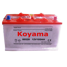 60528 DIN 105ah 12V Dry Charged Vehicle Battery