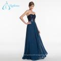 Chiffon Sashes Sequined Dark Blue Bridesmaid Dresses