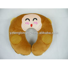 Soft relaxing and lovely monkey U shaped speaking pillow
