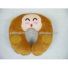 Мягкая расслабляющая и симпатичная обезьяна U-образная говорящая подушка