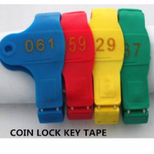 Coin Lock Key Tape, Key Brand, Bathroom Hand Number
