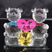 Hot sale lovely crystal teddy bear for wedding decoration