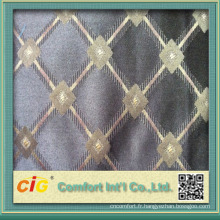 tissu de sofa de jacquard de chenille de viscose