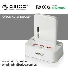 Estação de encaixe HDD de 2,5 '' de BA dupla, ORICO XG-2528US3-C com função offline clone