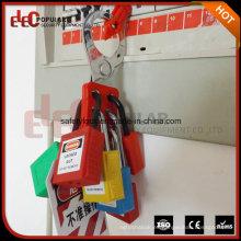 Candado de seguridad de plástico con llave maestra