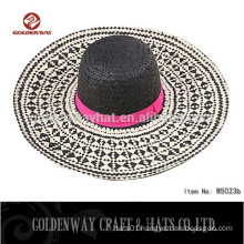 Promotional straw hat cheap wholesale ladies straw hat