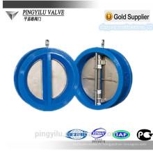 Robinet de retenue à double plaque de type wafer d'eau Soupape hydraulique hydraulique à ressort hydraulique à ressort hydraulique souple