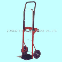 "foldable luggage hand trolley,80kgs capacity,7.5x1.2"" solid"