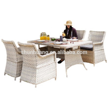 hot sale wicker table and chair PE rattan furniture