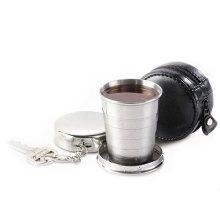 Taza plegable/plegable/desplegable/viajes/agua/telescópico de acero inoxidable