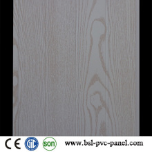 White Wood Pattern Laminated Wave PVC Wall Panel