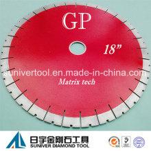 "Discos de corte de diamante GP 18 ""* 25mm, lâminas de diamante para granito, quartzito"
