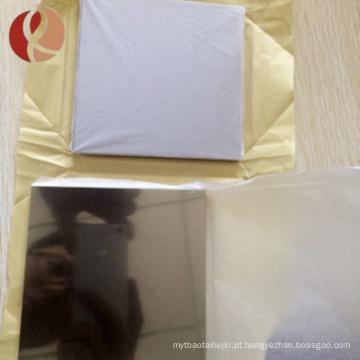 Fonte de fábrica de China 99.95% folha de placa de nióbio