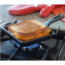 Mini friteuse en fonte pré-séchée carrée