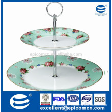 2pcs cup cake stand in ceramic factory wholesale