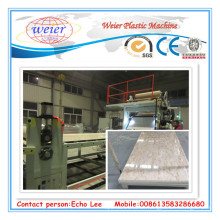 PVC-Marmor-Blatt-Extrudiermaschine / PVC-Marmor-Blatt-Verdrängungs-Linie der hohen Leistung