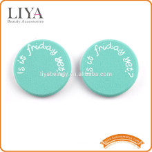 OEM Custom logo sponge cosmetics puff with nbr latex material