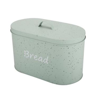 Caixa de pão de metal oval vintage caixa de pão