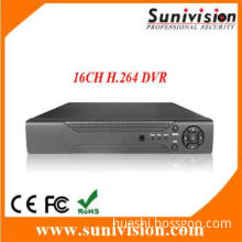 16 channels real time  CIF recording H.264 Digital Video Recorder