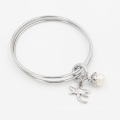 Hi Quality Stacking 316L Stainless Steel Bangle with Custom Charms