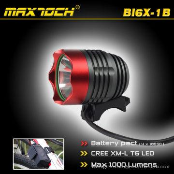 Maxtoch BI6X-1B 10W 1000LM CREE XML T6 aluminio bicicleta LED antorcha
