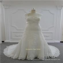 Vestido de boda de encaje de tamaño sirena plus2017