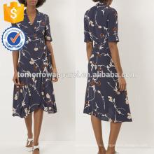Новая мода темно-креп Цветочный платье Производство Оптовая продажа женской одежды (TA5236D)