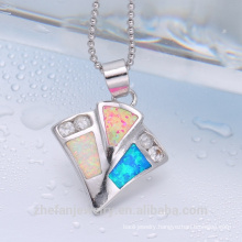 New jewelry 2018 opal pendant white and blue fashion pendant