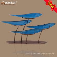 Vente en gros Qualité supérieure Décor de mode moderne décor de maison figurine de poisson abstraite