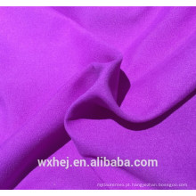 Preço barato de fábrica 100% poliéster microfibra sarja pele de pêssego cor sólida tecido