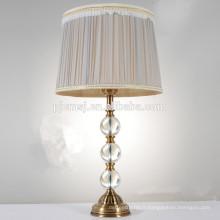 lampe de bureau en cristal pour la décoration de chambre à coucher