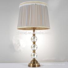 lâmpada de mesa de cristal para a decoração do quarto