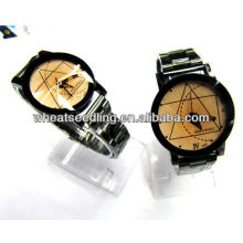 Surpreendente casal amante descrição de quartzo relógio de pulso mulheres