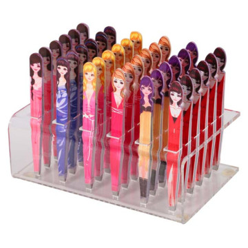 Kawaii Doll Pattern Professional Makeup Eyebrow Tweezer
