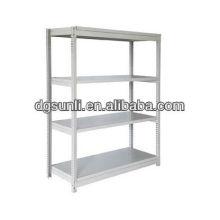 entrepôt de structure métallique réglable fendue étagères d'angle
