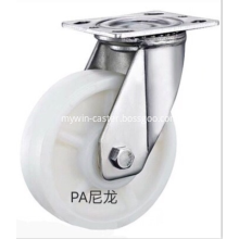 Stainless steel bracket  PA heavy duty casters without brakes