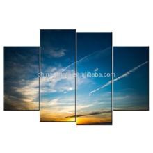 Natural Cópia da arte do por do sol do retrato / impressão d Impressão De Canvas Envolvidas