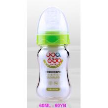 60ml Boroslicate Neutro Botella de alimentación de vidrio del bebé